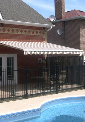 image of awning shading a nice patio